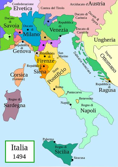 Cartina Italia Nel 500.L Europa Nel Quattrocento